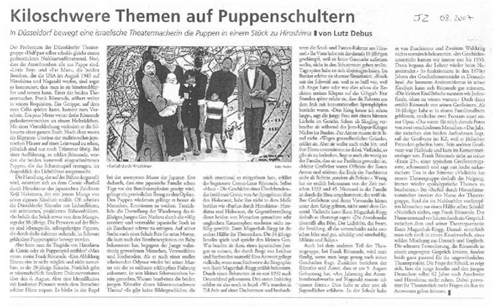 Barfuss durch Hiroshima_Jüdische Zeitung_August 2007