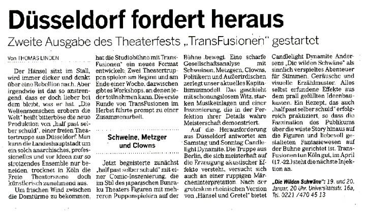 Die Weltmenschen erobern die Welt_Kölnische Rundschau_17.01.2013