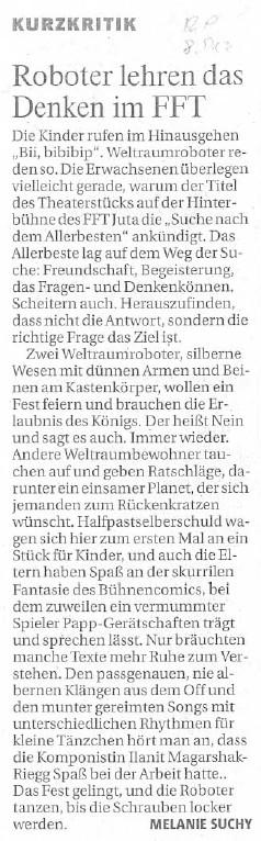 Auf der Suche nach dem Allerbesten_Rheinische Post_08.12.2009