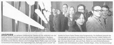 Förderpreis der Landeshauptstadt Düsseldorf_NRZ_12.12.2007