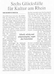 Förderpreis der Landeshauptstadt Düsseldorf_Rheinische Post_13.12.2007