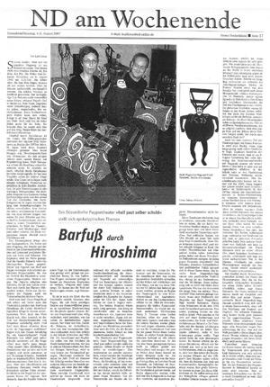 Barfuss durch Hiroshima_neues deutschland_04.08.2007
