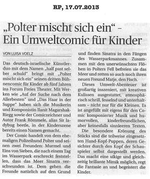 Polter mischt sich ein_Rheinische Post_17.07.2013