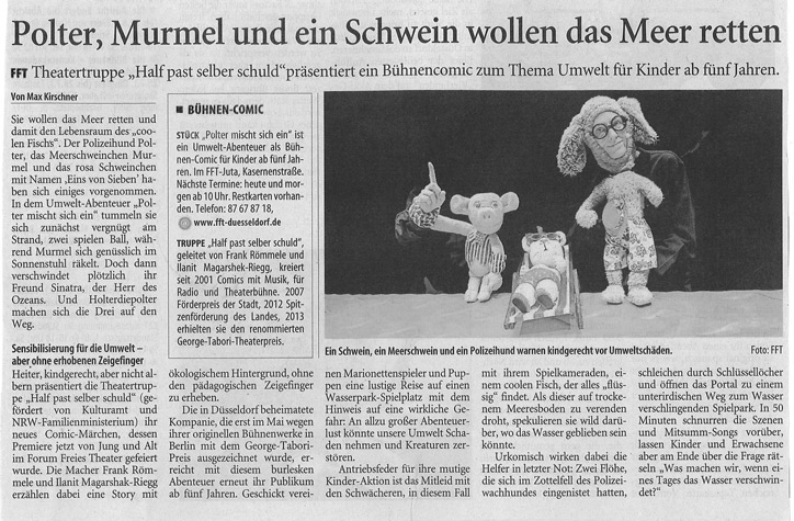 Polter mischt sich ein_Westdeutsche Zeitung_16.07.2013