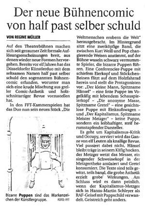 Die Weltmenschen erobern die Welt_Rheinische Post_26.10.2012