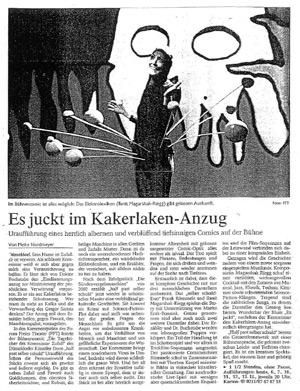 Die Tagebücher von Kommissar Zufall_Westdeutsche Zeitung_05.11.2004