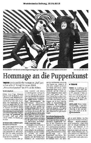 Pinocchio Sanchez_Westdeutsche Zeitung_13.04.2015
