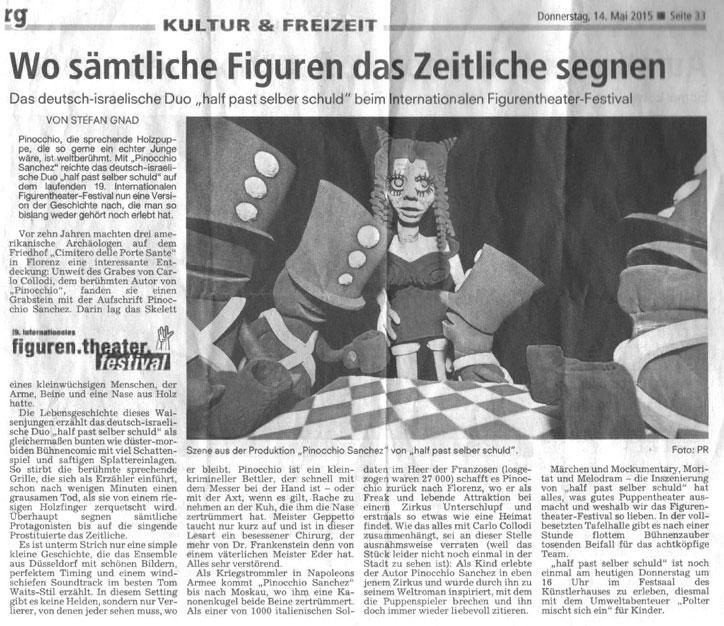 Pinocchio Sanchez_Nürnberger Nachrichten_14.05.2015