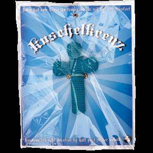 Kuschelkreuz in blau