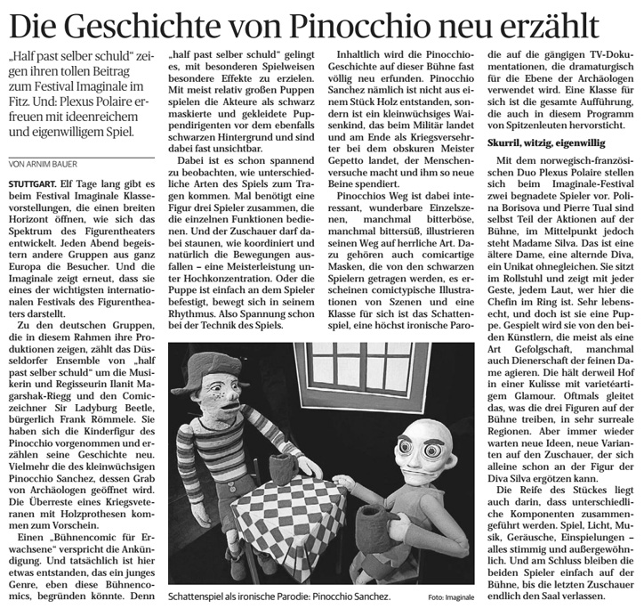 Pinocchio Sanchez_Ludwigsburger Kreiszeitung_30.01.2016